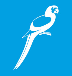 parrot icon white vector image