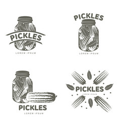 Pickles logo templates vector