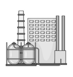 Plant single icon in monochrome styleplant vector