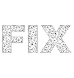 polygonal mesh fix text tag vector image