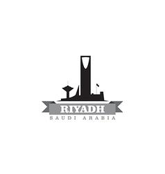 Riyadh Saudi Arabia city symbol silhouette vector image