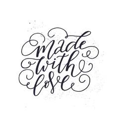 Romantic lettering quote vector