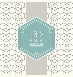 set line pattern and linear frame vector image