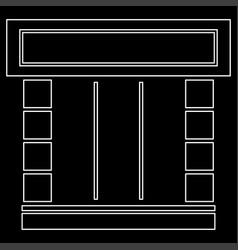 Shopfront white color path icon vector