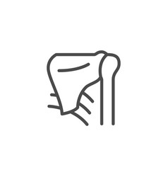 Shoulder blade and joint line outline icon vector