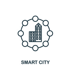 smart city outline icon creative design from vector image