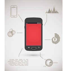 Smart phone inforgraphic vector