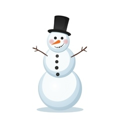 Snowman in a top hat vector