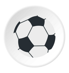 Soccer or football ball icon circle vector