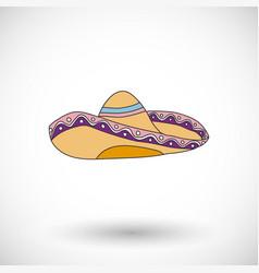 Sombrero icon with round shadow vector