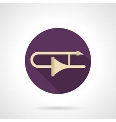 Trombone solo flat round icon vector