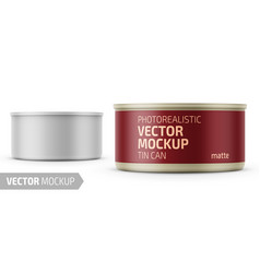 tuna can with label and sample design vector image