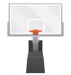 vector basketball backboard vector image