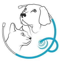 Veterinary clinic for animals symbol vector