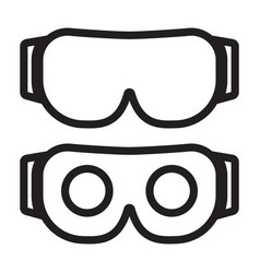 Vr headset or virtual reality headset line art vector