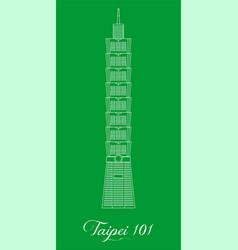 With landmark of asiathe taipei 101 vector