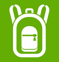 backpack icon green vector image vector image