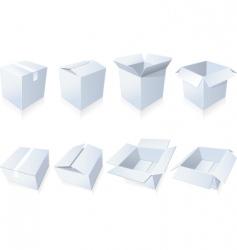 Blank cardboard boxes vector