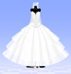 bride dress vector image