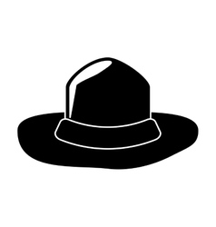 Canadian hat mounted policeman design pictogram vector