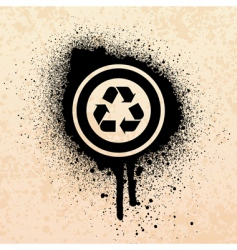 graffiti recycle symbol vector image
