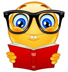nerd emoticon vector image vector image