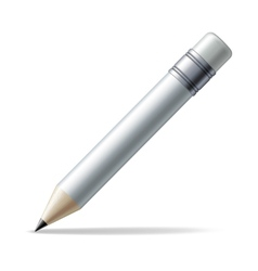 White pencil vector image vector image