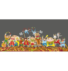 Circus Performance Parade Crowd vector image vector image