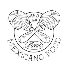 restaurant mexican food menu promo sign in sketch vector image vector image