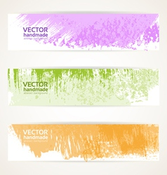 Decorative background color banners vector image vector image