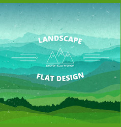 flat landscape textured beautiful vector image