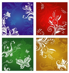 Floral and flower ornaments vector image vector image