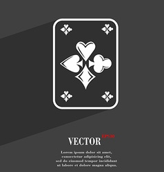 game cards symbol Flat modern web design with long vector image vector image