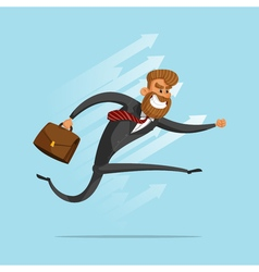 Happy businessman or manager rushes to success vector image