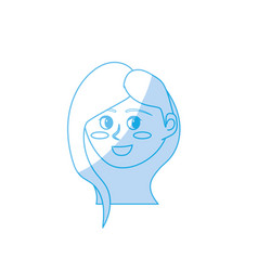 silhouette avatar happy woman face with hairstyle vector image