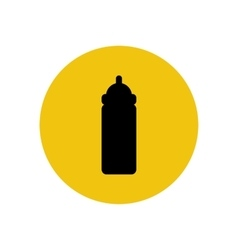 Baby bottle silhouette vector image vector image