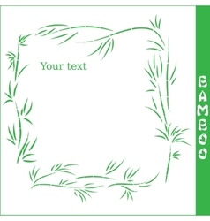 bamboo square frame vector image vector image