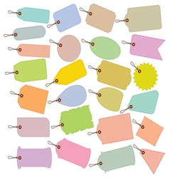 Big price tag collection vector image vector image