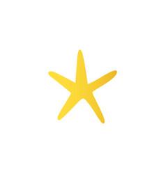 cartoon yellow starfish icon vector image vector image