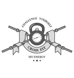 Crossfit sports logo emblem vector image
