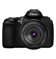 Digital slr photo camera vector