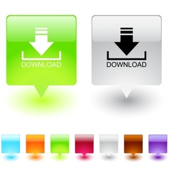 download square button vector image vector image