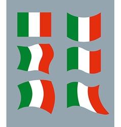 Italy Flag Developing Italian flag Set various vector image