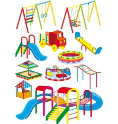 playground set vector image vector image