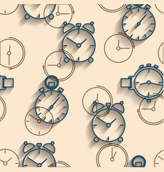 seamless background of watch dials vector image