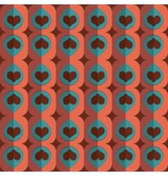 seamless love heart pattern vector image