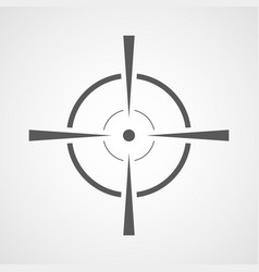 Aim icon vector