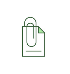 Attach document icon vector