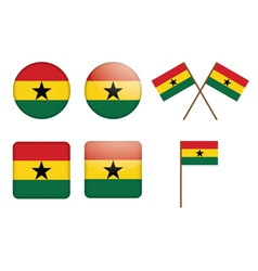 badges with flag of Ghana vector image