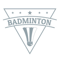 Badminton logo simple gray style vector